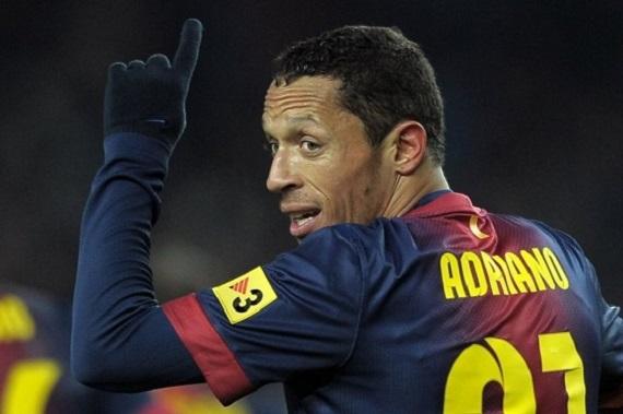 رغم إصاباته الكثيرة.. برشلونة يمدد عقد أدريانو حتى 2017