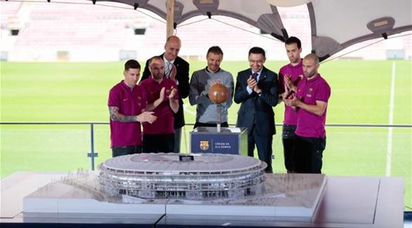برشلونة يكشف عن تصميم ملعبه الجديد