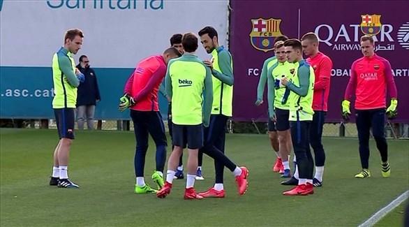 برشلونة يبدأ استعداداته لمواجهة ليغانيس