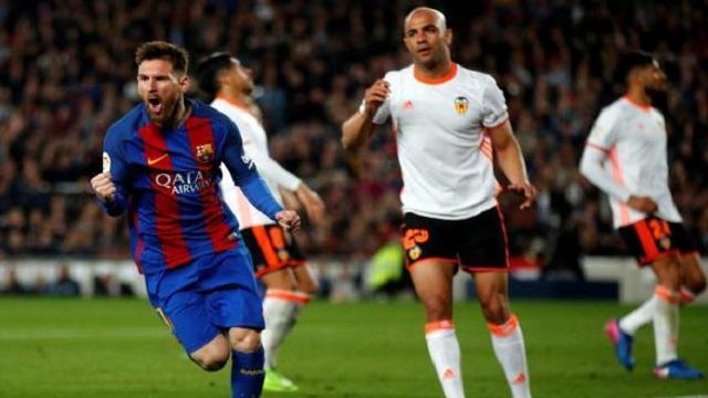 برشلونة شباك فالنسيا بأربعة أهداف