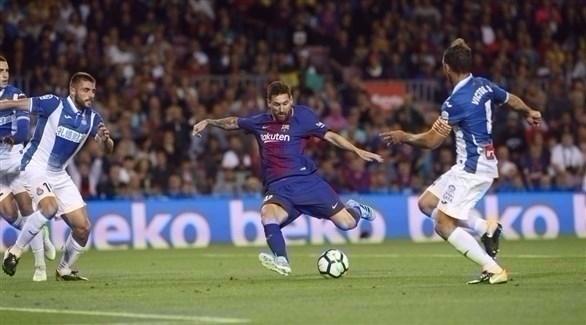 ميسي يقود برشلونة لسحق إسبانيول