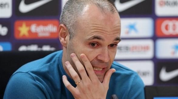 إنييستا: أتمنى تتويج برشلونة بـ دوري أبطال أوروبا