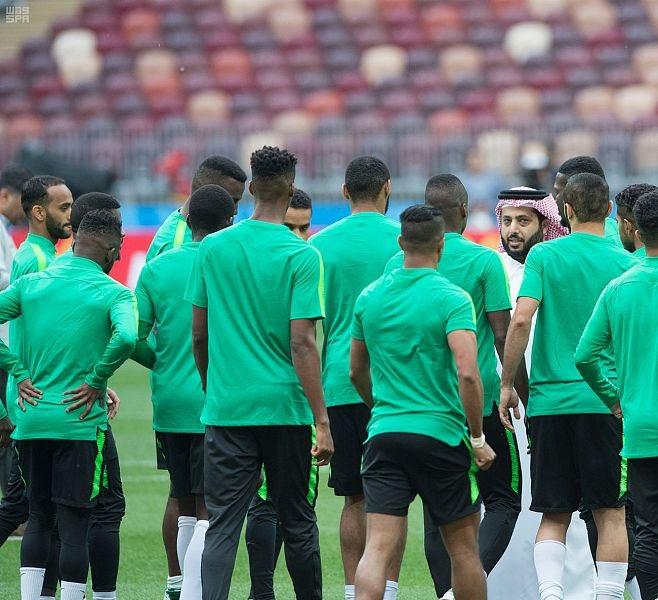 الأخضر يختتم تدريباته لمواجهة روسيا غداً في كأس العالم