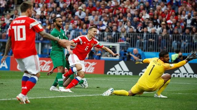 جازينيسكي يقص شريط أهداف مونديال روسيا
