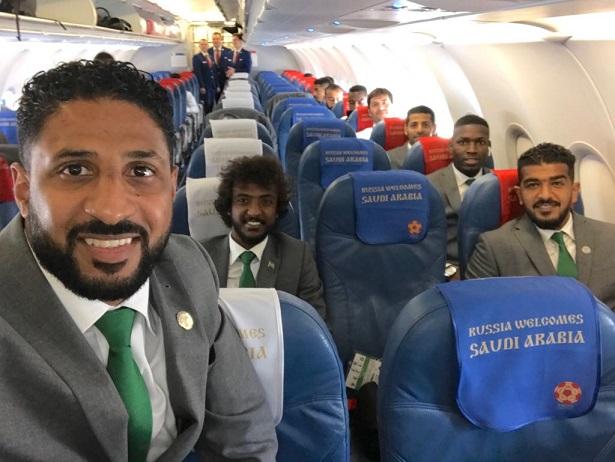 بعثة الأخضر السعودي تصل موسكو