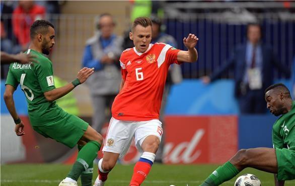 لاعب روسيا : الهدف الأول بعثر أوراق الأخضر السعودي