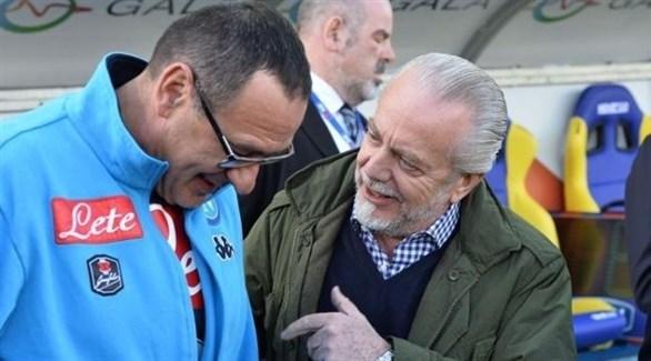 رئيس نابولي يكشف مستقبل ساري خلال تقديم أنشيلوتي