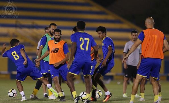 النصر يواصل تحضيراته لمواجهة الجزيرة الإماراتي