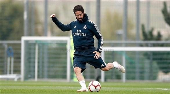 إيسكو يواصل التدريبات مع ريال مدريد