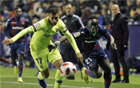 برشلونة يخسر أمام ليفانتي في كأس ملك إسبانيا