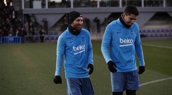ميسي ينضم إلى تدريب برشلونة استعداداً  لـ الكلاسيكو