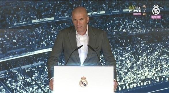 أهم تصريحات زين الدين زيدان بعد توليه تدريب ريال مدريد
