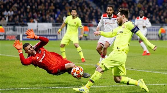 مهمة سهلة لبرشلونة أمام ليون في دوري الأبطال
