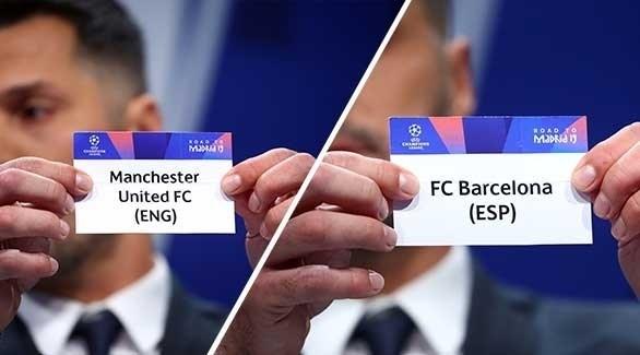 سعادة في برشلونة لمواجهة مانشستر يونايتد !