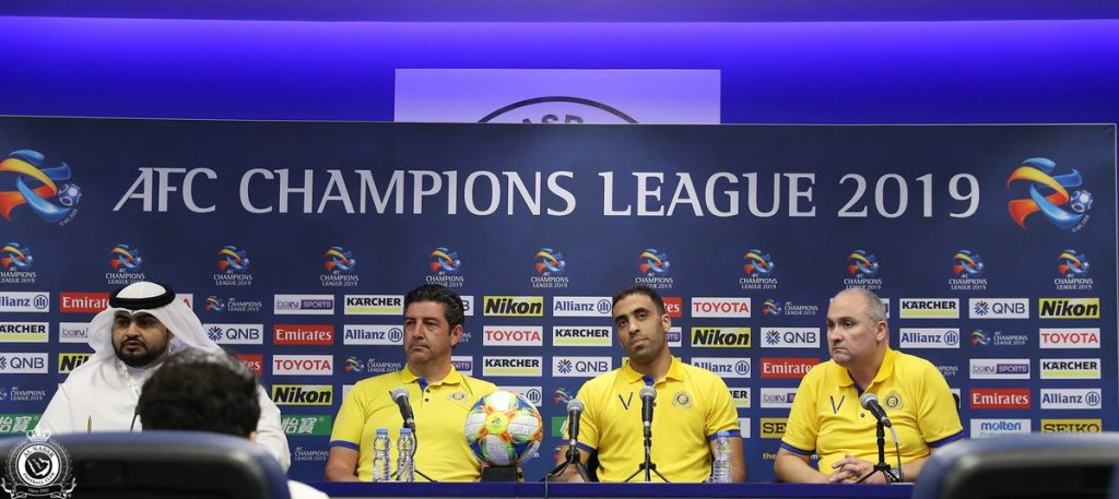 مهاجم النصر : لا يوجد لقاء سهل في بطولة دوري الأبطال