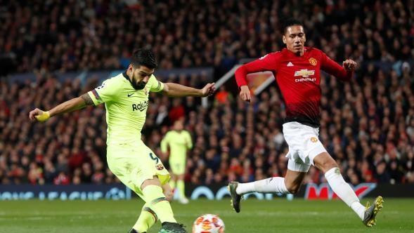 برشلونة يحسم موقعة الذهاب أمام مانشستر يونايتد
