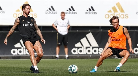 راموس يشارك في تدريب ريال مدريد