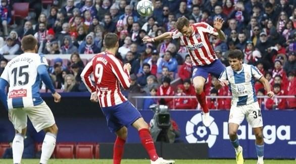 أتلتيكو مدريد يفسد مغامرة إسبانيول ويستعيد المركز الثالث
