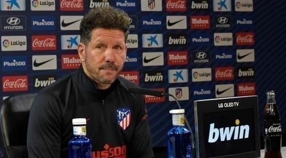 سيميوني : أتلتيكو مدريد بعيش لحظة معقدة