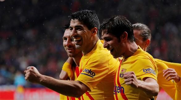 سواريز : العمل الجماعي قاد برشلونة للفوز على أتلتيكو مدريد
