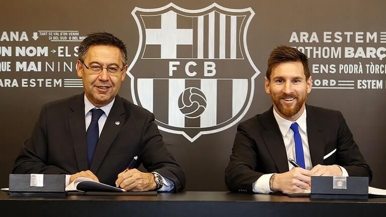 أول رد لـ رئيس برشلونة على إمكانية رحيل ميسي
