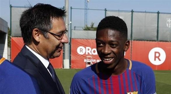 موقف مفاجئ من رئيس برشلونة تجاه  ديمبيلي