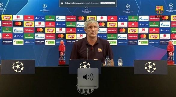 Photo of مدرب برشلونة يتحدث عن مستقبله في حال الإقصاء أمام نابولي