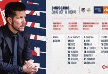 Photo of خيمينيز يظهر في قائمة أتلتيكو مدريد لأول مرة في الموسم