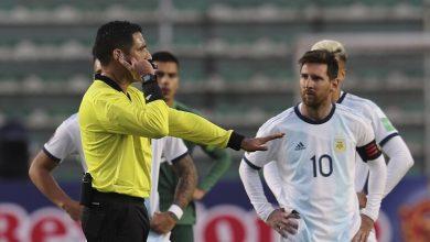 Photo of فيديو .. ميسي يتشاجر ويطلق ألفاظا نابية في مباراة الأرجنتين