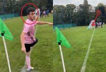 Photo of فيديو .. لاعب يسجل هدفا عالميا من ركلة ركنية بدون أن ينظر إلى الكرة