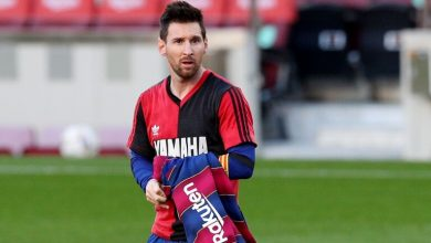 Photo of برشلونة يطالب بحذف الإنذار من رصيد ميسي بسبب قميص مارادونا !