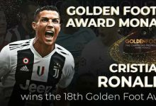 Photo of رونالدو يتفوق على ميسي ومحمد صلاح بجائزة القدم الذهبية
